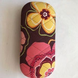 ❤️Vera Bradley Orange/Yellow Sun/Glasses case